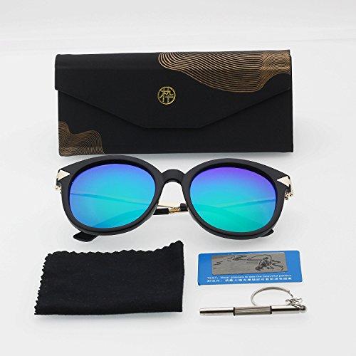 Unisex occhiali da sole polarizzati per uomini e donne (con custodia)–protezione uv 400, blue
