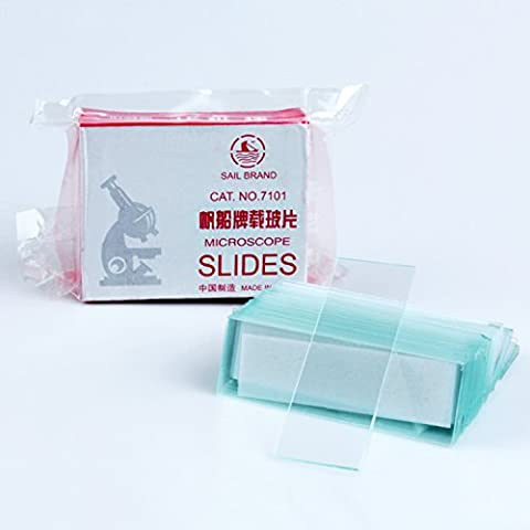 50 Blank Microscope Slides Glass Slides with Grinding Edge