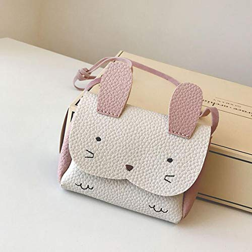 Mini conejito con un solo hombro, bolsa de hombro, mochila, animal encantador, adorno de dibujos animados...