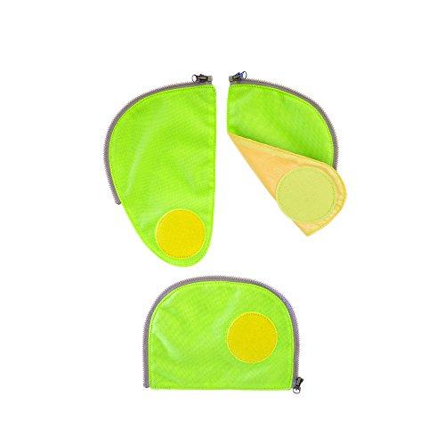 ERGOBAG Pack Sicherheitsset Fluoreszierende Zip-Flächen, 23cm, Grün