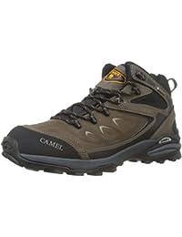 CAMEL Zapatillas botas profesionales de cuero para hombres especialmente diseñados para senderismo trekking montaña deportes al