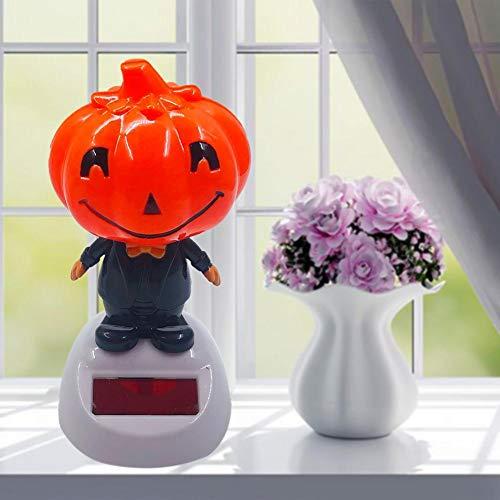 Halloween Kopfschüttelnde Puppe Solarenergie Kinderspielzeug Autodekoration - Auto Zubehör Tanzpuppe Kürbis Puppe Farbecht Umweltfreundlichem Für Armaturenbretter Schlafzimmer Häuser Schreibtische