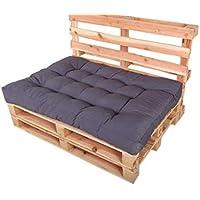 Chicreat - Juego de cojines para muebles de palés, 120 x 80 x 15 cm