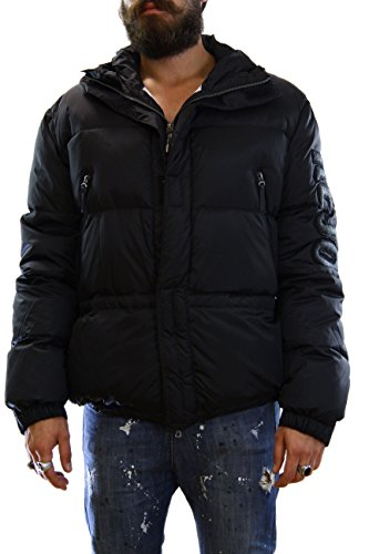 Kejo Mazinga Patch Goose Down Jacket Black Piumino con toppe XL
