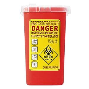 Kunststoff Sharps Container Biohazard-Nadel-Entsorgungsbox für infektiöse Abfälle