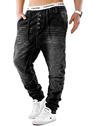 Urban Surface Herren Jogg Jeans Haremshose Denim Baggy Pants H1242 9dd2dbc4ce