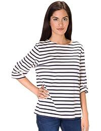 Saint James Women's T-Shirt multicolour ECRU/Marine