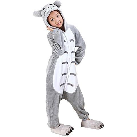 Moollyfox Pijamas Ropa de Dormir Disfraz de Animal Cosplay Para Niños Totoro 95