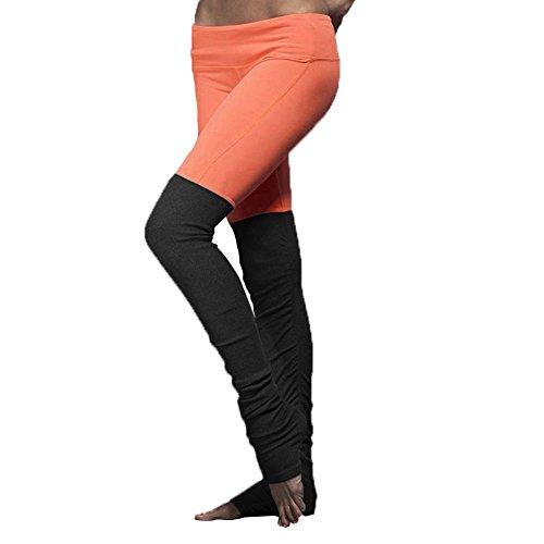 GITVIENAR Pantalon de Yoga Slim Legging Stretch Sport Collage de lollipop coloré Élastique Dynamique Jambières et sur pieds pour Danse Yoga Gym Orange