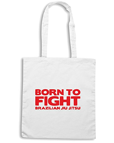 T-Shirtshock - Borsa Shopping TM0480 born to fight Bianco
