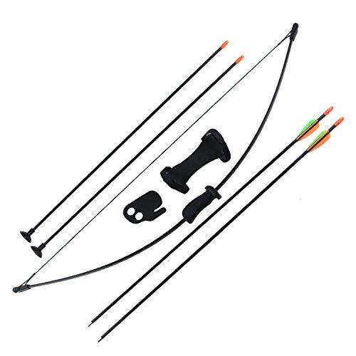 SinoArt Archery arc et flèche ensemble pour les enfants Enfants Jeu de plein air Jeu de chasse de jouets Gift Bow Kit Set avec 4 flèches 16 Lb