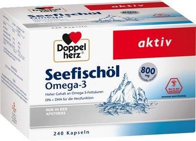 Preisvergleich Produktbild DOPPELHERZ Seefischöl Omega-3 800 mg Kapseln 240 St