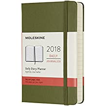 Agenda diaria 2018 12 meses, de bolsillo, tapa dura (color verde)