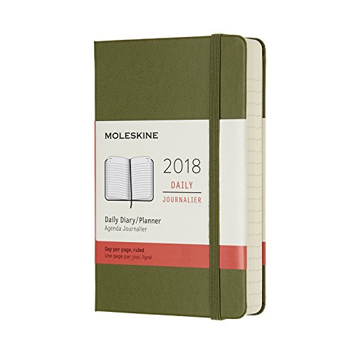 Agenda 2018 journalier poche rigide vert kaki