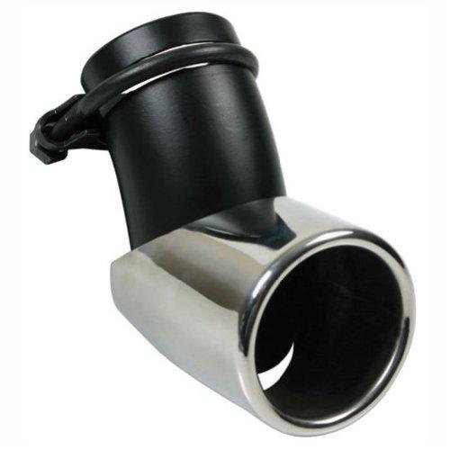 Lampa 60045 Swing-Tip 2 - Inserto para tubo de escape (ángulo regulable, 150mm máx.), color negro/plateado