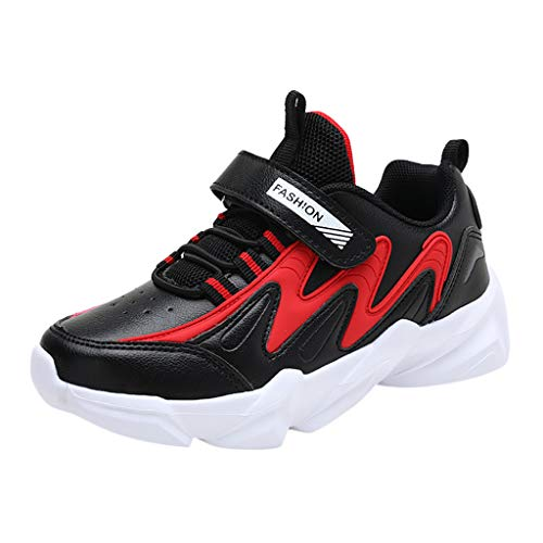 HDUFGJ Kinder Schuhe Klettverschluss Laufschuhe Baumwollschuhe Schuhe Sportschuhe Turnschuhe Baby Mädchen Jungen Nähen Winter Warme32 EU(Schwarz)