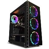ADMI VR-1 Gaming PC: AMD Ryzen 2300X 4.0Ghz Quad Core, RX570 4GB Graphics Card, 8GB 2400MHz DDR4, 1TB HDD, Raider RGB Glass Case, Windows 10, 300mbps Wifi
