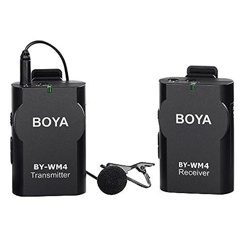 BOYA BY-WM4 Sans Fil Micro-cravate système pour Canon Nikon Sony Panasonic DSLR Caméscope Appareil Photo iphone android smartphone