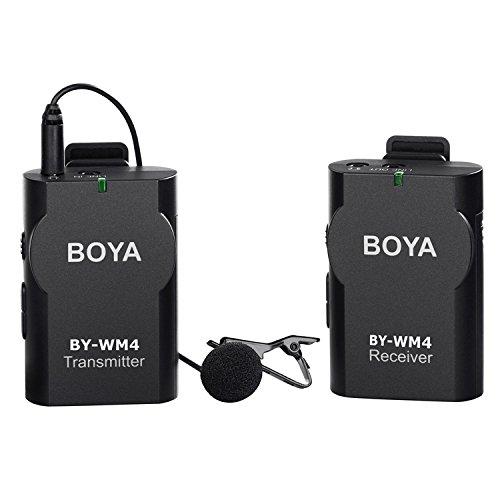 BOYA BY-WM4 sistema de Micrófono de Solapa Inalámbrico para Canon Ni