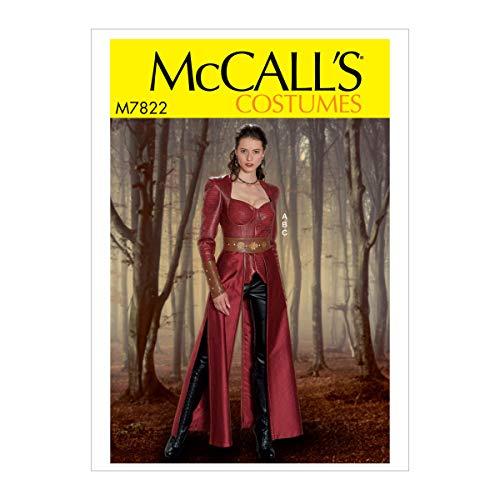 Pattern Kostüm Mccall - McCall's Patterns M7822A5 MCC 7822 McCall's M7822 Schnittmuster für Damen Jacke, Handschuhe und Overrock Kostüm, Größe 34-40, 34-40