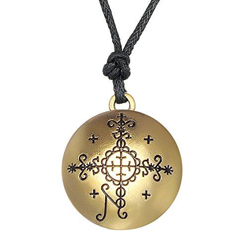 Lemegeton Gothic Wicca Talismán para Mujer, Papa SimbiVoodoo Loa Veve Colgante Collar
