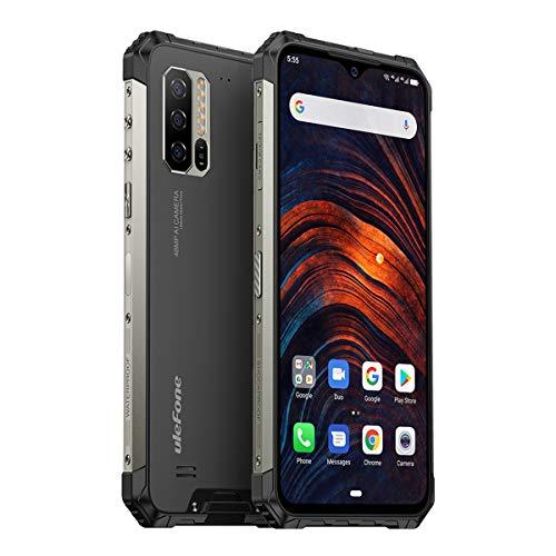 Ulefone Armor 7 Outdoor Handy Helio P90 8GB+128GB 48MP+16MP+8MP DREI Kamera, 6,3 Zoll Display, Dual SIM Android 9 Smartphone mit Herzfrequenzsensor & Schrittzähler, 5500mAh Akku, Global Version