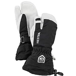 Hestra Army Leather Heli Ski 3 Finger Junior Black