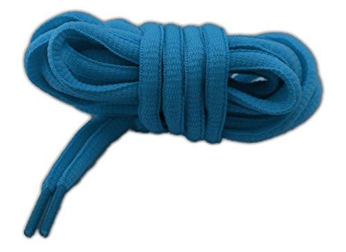 Lacci per calzature sportive, ovali, elevata qualità, 125 cm (blu)