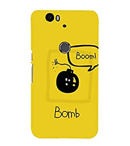 99Sublimation Black Bomb 3D Hard Polycarbonate Back Case Cover for Huawei Nexus 6P :: Huawei Google
