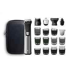 Idea Regalo - Philips Grooming Kit Serie7000 MG7770 Rifinitore Impermeabile in Acciaio 18-in-1 per Barba, Capelli e Corpo
