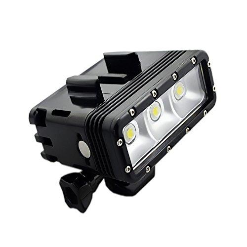 Suptig Unterwater Licht Tauchlampe Unterwasserlampe Dimmbare wasserdichte LED-Videoleuchte 147 Fuss(45m) Kompatibel für Gopro Hero 7 Hero 6 Hero 5 Hero 4 AKASO/Carpak/Dragon Action-Kamera (Licht Tauchen)