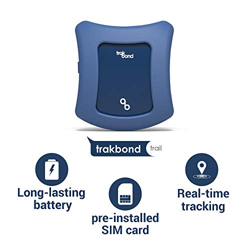 Trakbond GPS Tracker for Kids| Smallest Size| Accurate Live Tracking| Pre-Installed SIM Card| No Setup Required (Kids, Midnight Blue)...