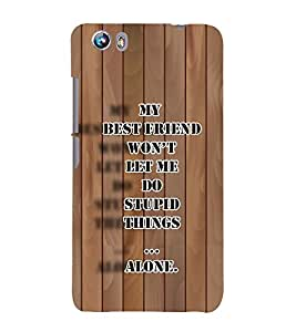 PrintVisa Romantic Quote 3D Hard Polycarbonate Designer Back Case Cover for Micromax Canvas Fire 4 A107