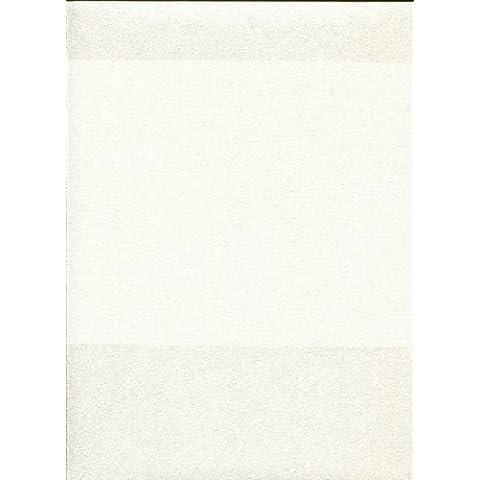 Roberto Cavalli Wallpaper Característica raya Bloque Blanco Crema 70cm ancho ...