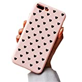 Hishiny iPhone 8 Plus Hülle, Handyhülle Stoßfest Matt Schutz Schale case Soft Slim Gel Case TPU Bumper cover Handy hülle Backcover für Apple iPhone 7 Plus/8 Plus (7 Plus, Rosa)