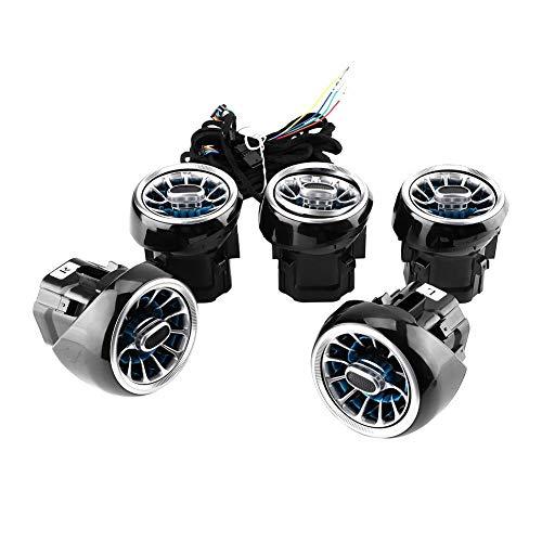 Turbine Vent (Duokon 5 stücke Auto Air Vent Umgebungslicht Turbine Outlets Lampe 64 Farbe Atmosphäre Licht Upgrade Änderung für Benz C/GLC Clas)