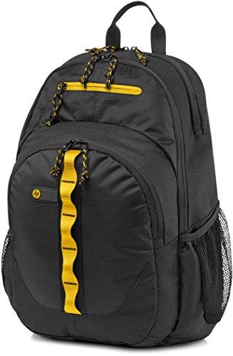 """HP 15.6"""" Sport - Mochila para ordenador portátil, negro y amarillo"""
