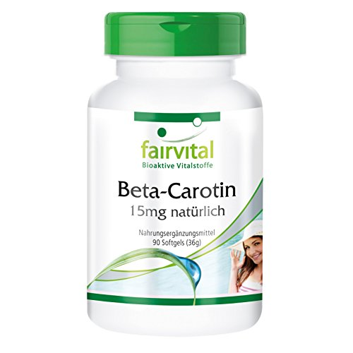 Beta Carotin 25.000 IE - 15mg pro Kapsel - HOCHDOSIERT - Provitamin A - 90 Softgels