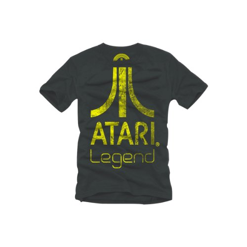 Atari T-Shirt -S- Anthracite, Legend Logo