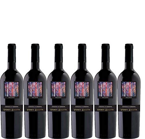 6 bottiglie per 0,75l -SALANA - CANNONAU DI SARDEGNA DOC