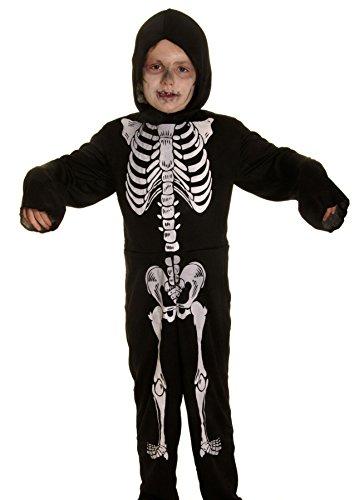 Generic Jungen Bekleidungsset Skeleton Jumpsuit 4 (Witch Costume School Girl)