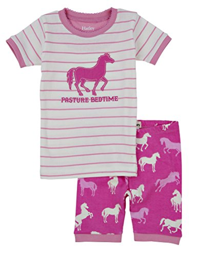 Hatley Classic Horses Short Pyjamas Set (Pasture Bedtime)