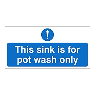 This sink is for Pot wash only sign. Self adhesive hygiene sticker. 200mm x 100mm (1)