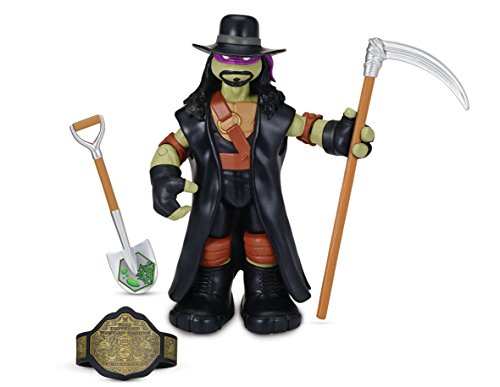 Teenage Mutant Ninja Turtles Turtles WWE Mash Up Action Figuren Donnie als Undertaker (Wwe Action-figur Waffen)