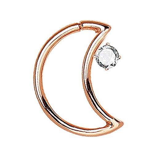 Metall-Fälschungs-Mond-Nasen-Ring Cartilage Ringe Septum-Piercing Kleine Nase Hoop Schmuck