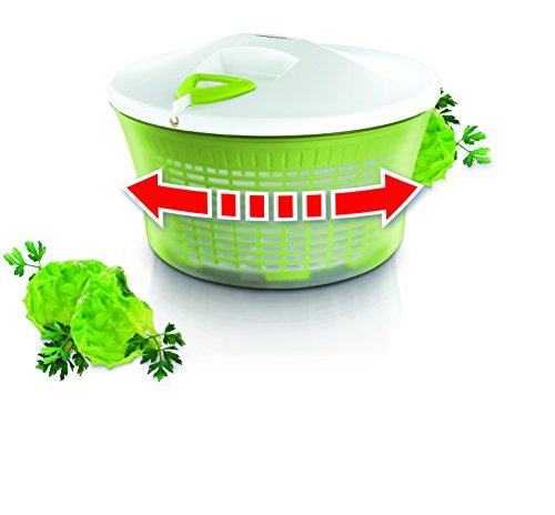 Leifheit ComfortLine - Centrifugadora de ensalada de plástico, color verde