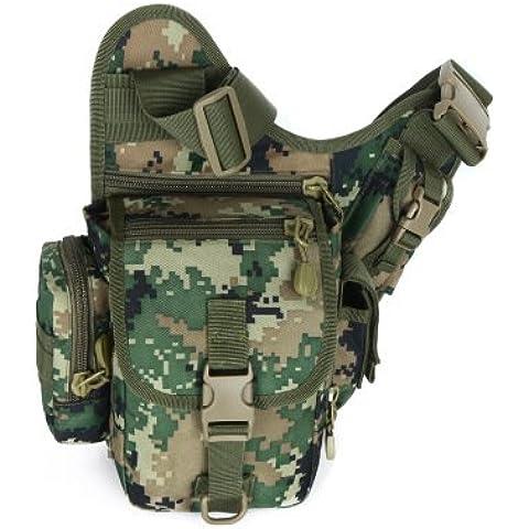 optuny outdoor-men y las mujeres ejército táctico campaña camuflaje mini-shoulder una mochila de álgebra lineal, The number of the jungle