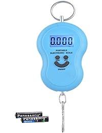 Billionbag Smiley Digital Lcd Display Hook Green Background Light Luggage Scale