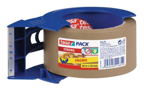 Tesa Sas 5742400003 Klebeband inklusive Abroller Handbuch für Tesapack Verschluss von Verpackungen, Kartons
