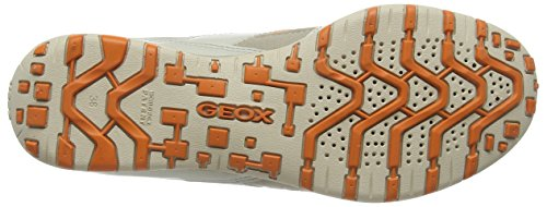 Geox D Freccia, Baskets Basses femme Orange - Orange (ORANGE/TAUPEC2046)